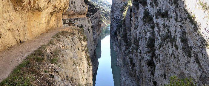 CONGOST DE MONT REBEI à 530 mètres d'altitude, dans la sierra de Montsec à la frontière de la Catalogne et de l'Aragon.