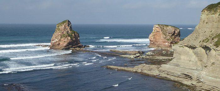 SENTIER DU LITTORAL DE SAINT JEAN DE LUZ A HENDAYE, entre mer et montagne, en pays basque, Pyrénées-Atlantiques.