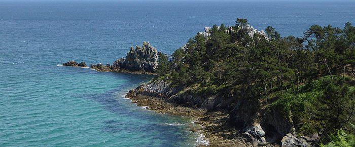 POINTE SAINT HERNOT, sur la presqu'île de Crozon dans le département du Finistère, Bretagne.