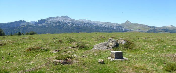 PIC SOULAING à 1589 mètres d'altitude, dans la vallée de Barétous, sur la commune d'Arette, Pyrénées-Atlantiques.