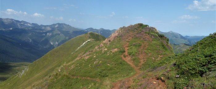 CRÊTES DE GRUM, D'ANDREYT ET DE LAUDEGE, depuis le col d'Aubisque sur la commune de Béost, Pyrénées-Atlantiques