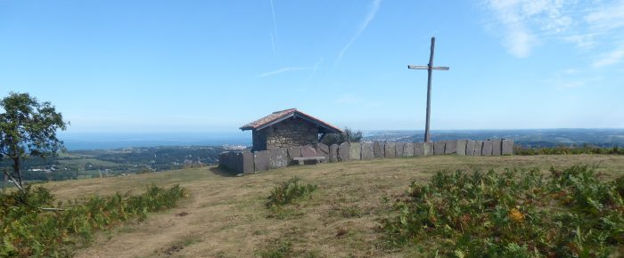 MONT DU CALVAIRE à 291 mètres d'altitude sur la commune de Biriatou, Pyrénées-Atlantiques