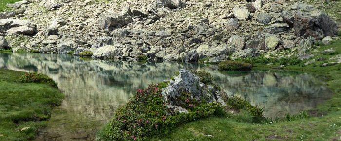 IBON DE ESPELUNCIECHA à 1950 mètres d'altitude, en vallée de Tena, sur la commune de Sallent de Gallego, Haut Aragon, Espagne